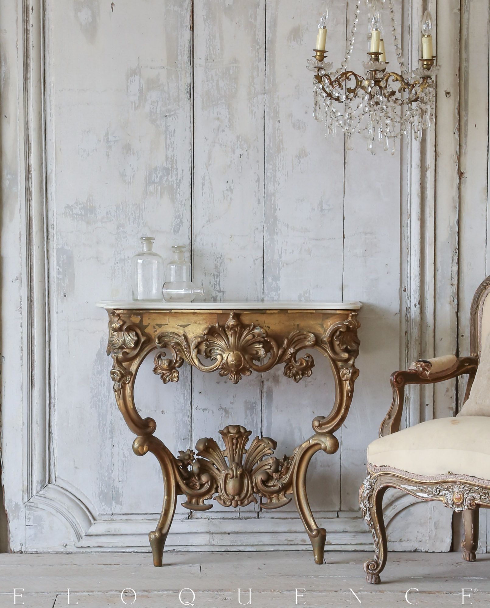 Stunning Antique Console Table Circa 1890 ELOQUENCE ELOQUENCE l