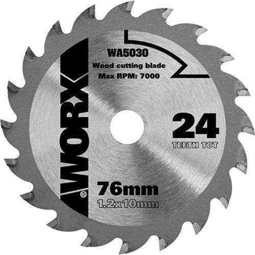 Worx Wa5030 Zaagblad Tct 24tpi 76mm Hout Elektrisch Gereedschap Gereedschap