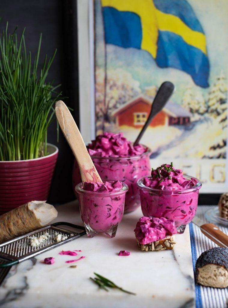 Schwedischer Rote Bete Salat - Rödbetssallad , der schwedische klassiker #shrimpdip