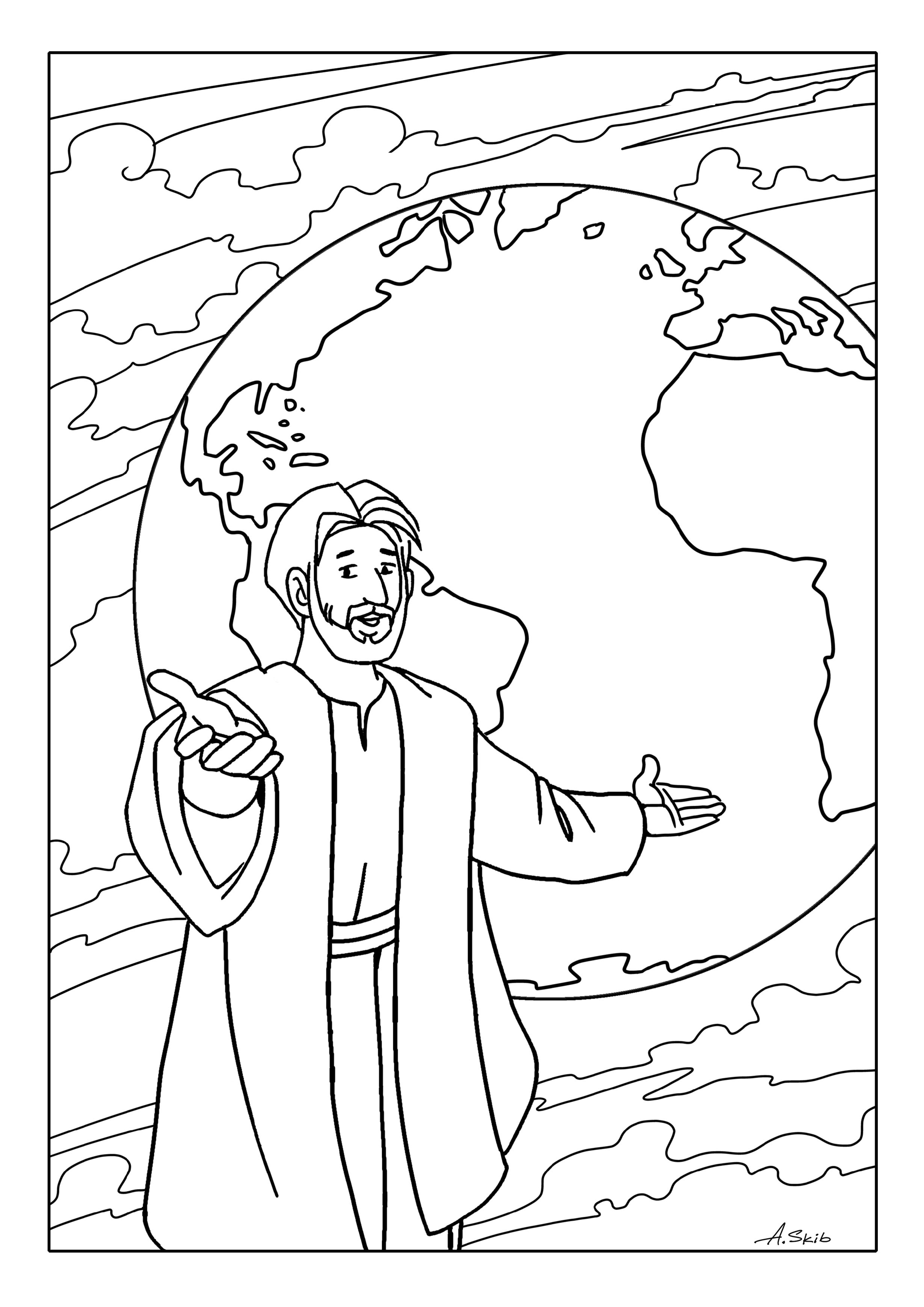Free Coloring Pages The Great Commission | creating with kids ...