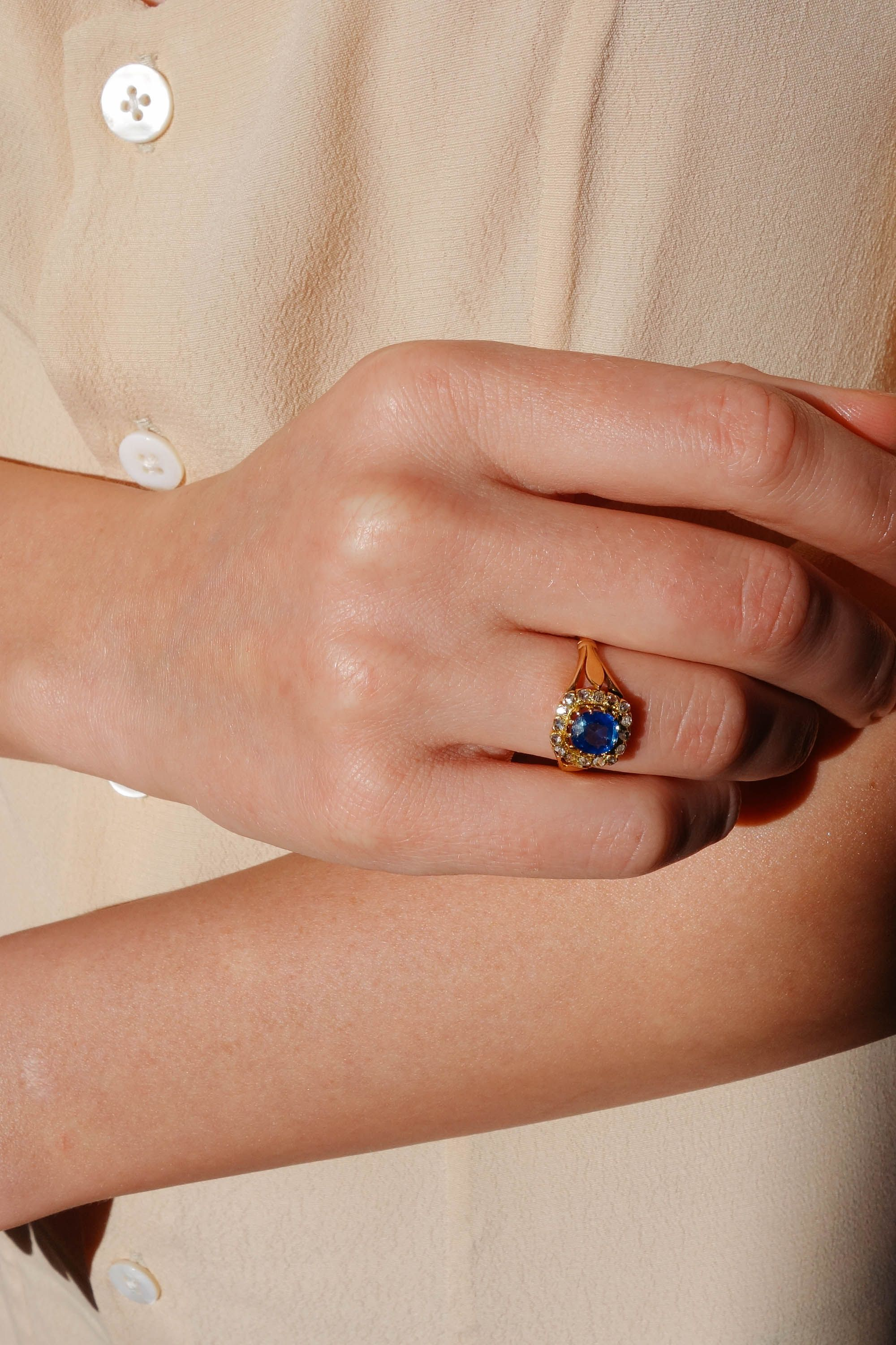 Antique Victorian Sapphire Ring Wedding Rings Solitaire Vintage Engagement Rings Rose Gold Engagement Ring Vintage