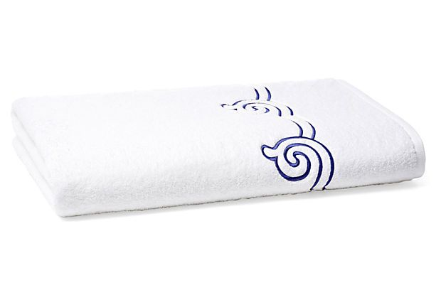 Serenity Bath Sheet, Blue Ink on OneKingsLane.com