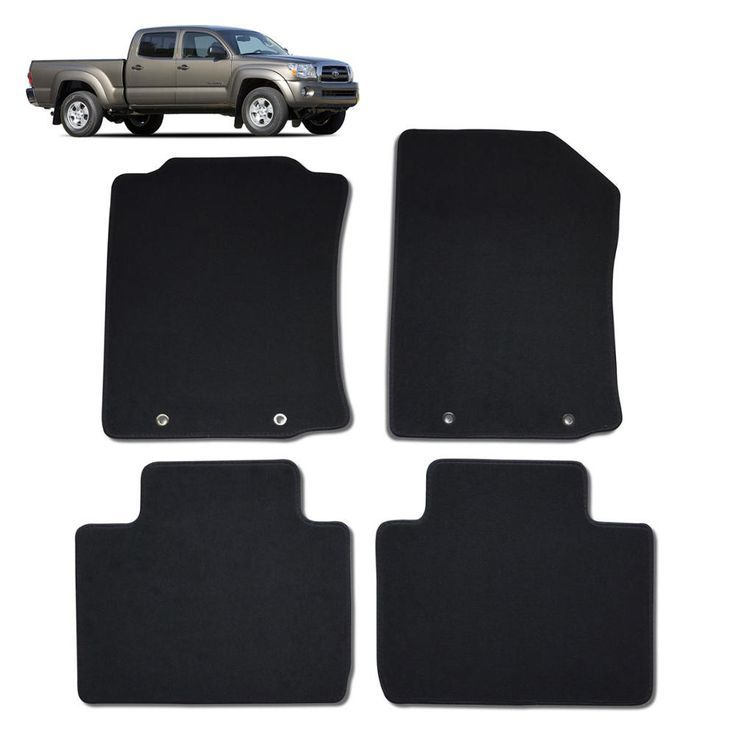toyota cab set rear floor duty double heavy mat mats tacoma base for front m fitted