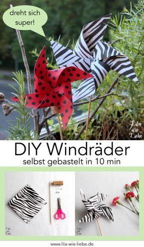 Photo of Windrad basteln – 10 Minuten DIY – Lila wie Liebe