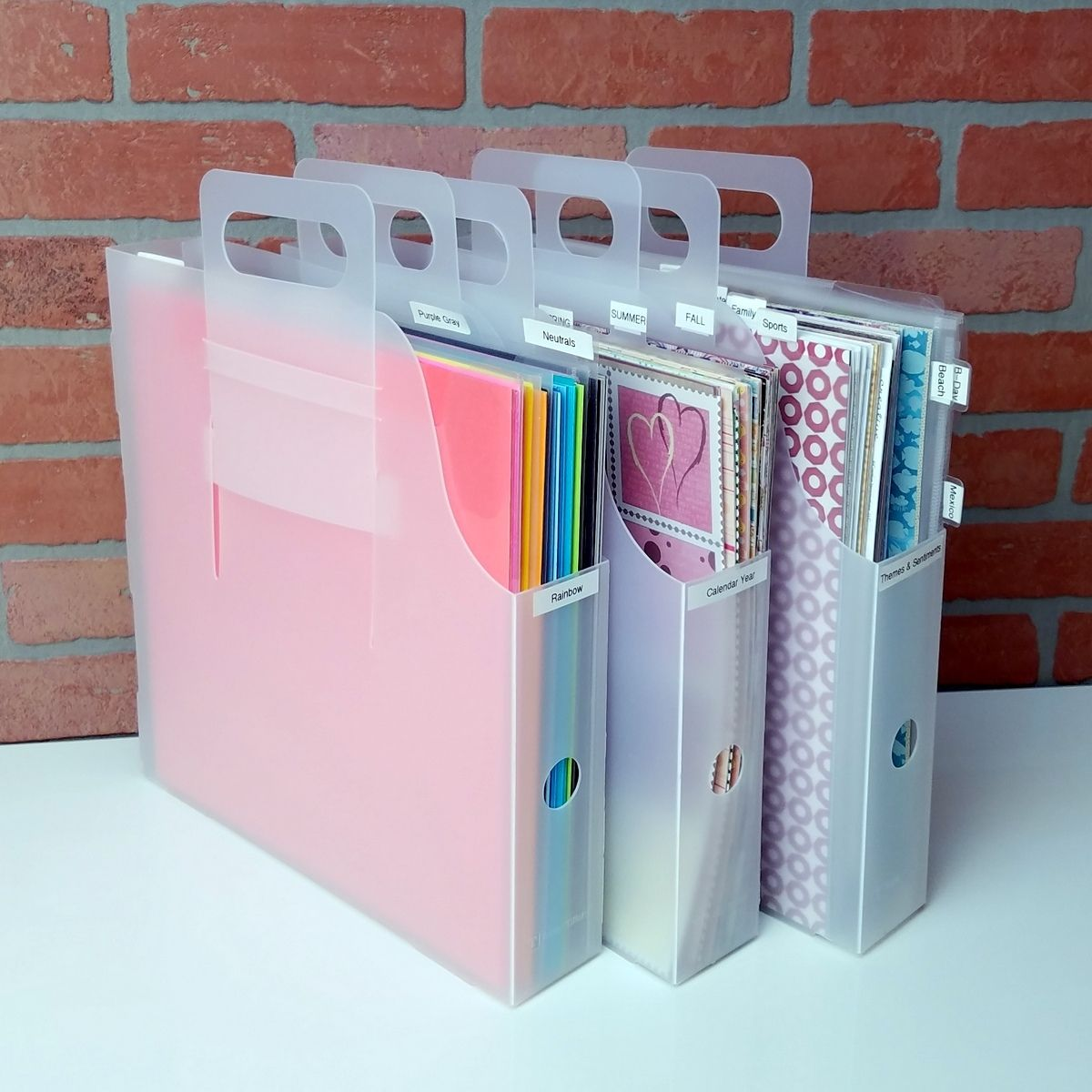 Organize 12x12 Paper Cardstock And Collections With The Paper Manager Kit From Totally Tiffany Scrapbook Paper Storage Scrapbook Paper Organization Scrapbook Room Organization