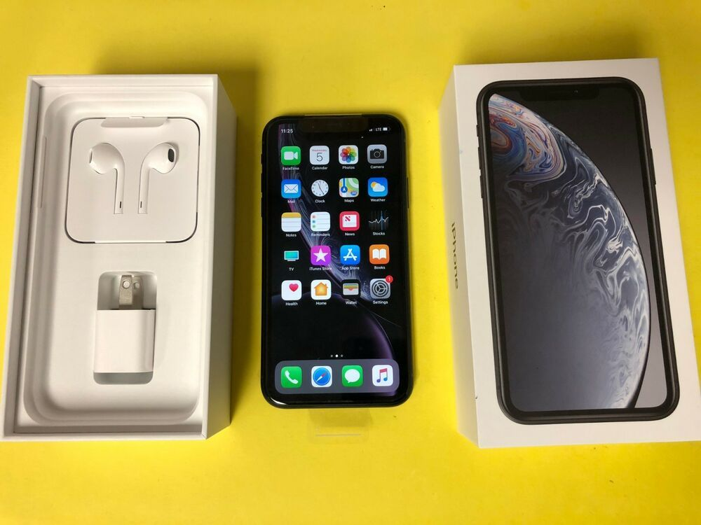 Apple Iphone Ten Xr 64gb Black Verizon Unlocked Great Condition Apple Iphone Iphone Apple Phone