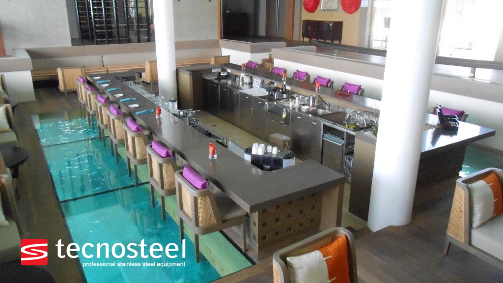 Bar Design And Stainless Steel Counters By Tecnosteel