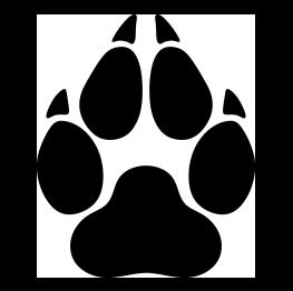 Wolf Paw Print Silhouette Png 263 262 Wolf Paw Print Wolf Paw Paw Logo