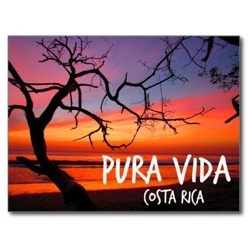 Pura Vida Costa Rica Beach Sunset - Playa Avellanas,