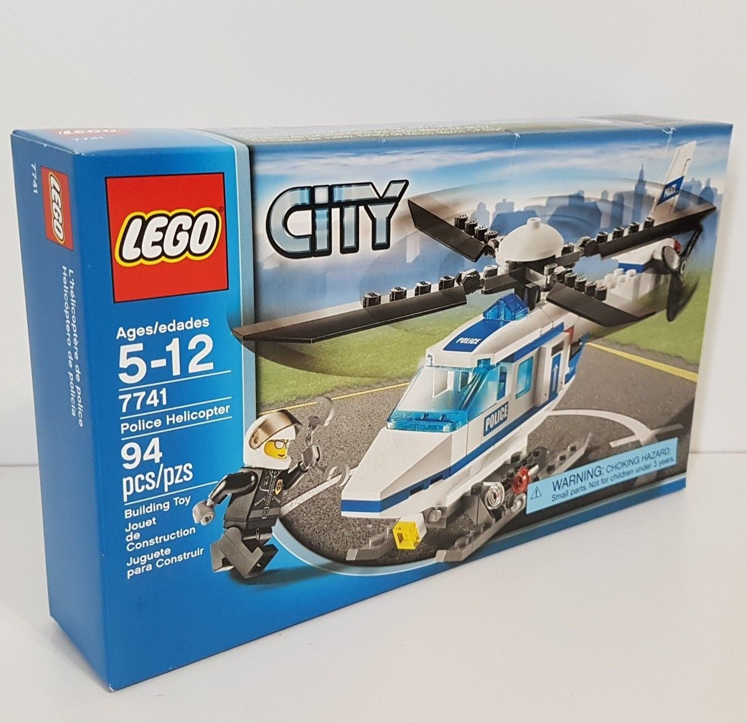 Lego City Police Helicopter Set Aircraft With Pilot 7741 From Ebay