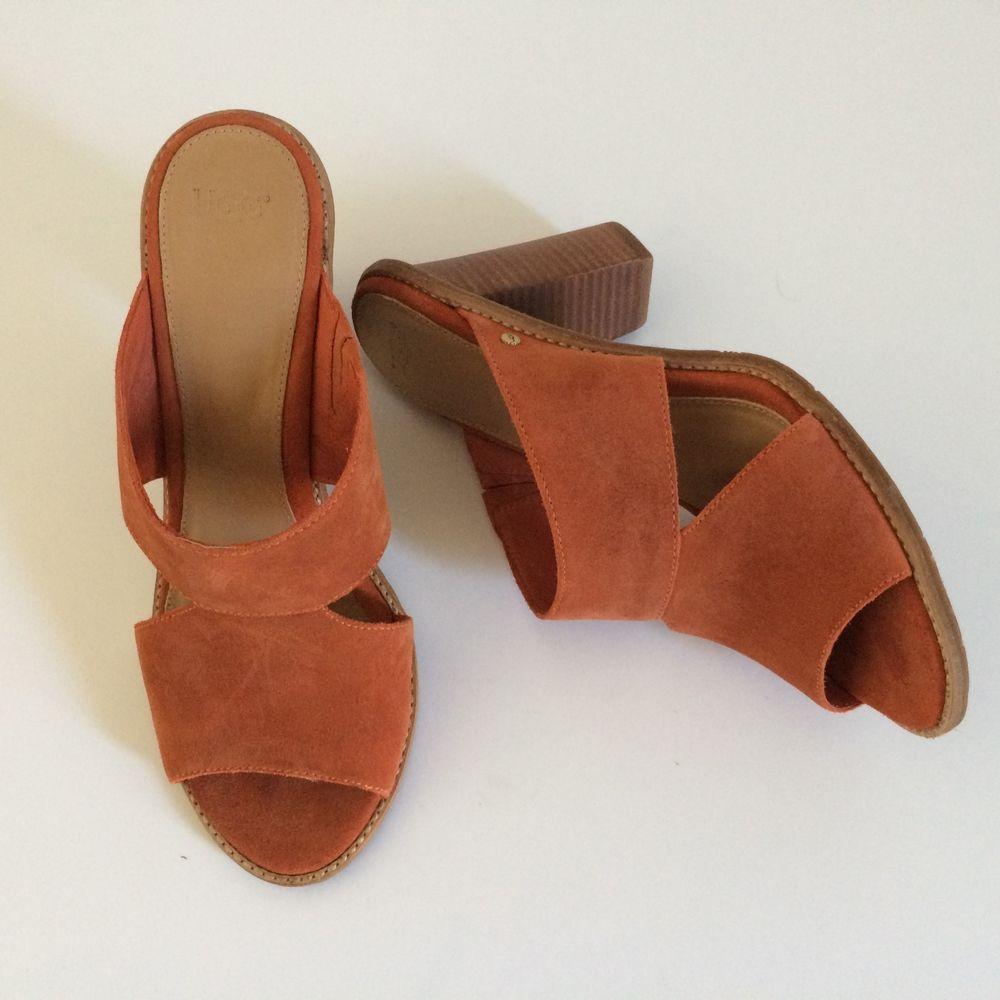 428b2e46960 UGG Celia Suede Mule Slip On Shoe Women Size 10 Rust Orange #fashion ...