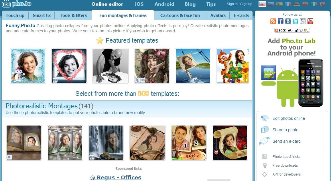 Funny.Pho.to Creating photo collages from your photos online ...