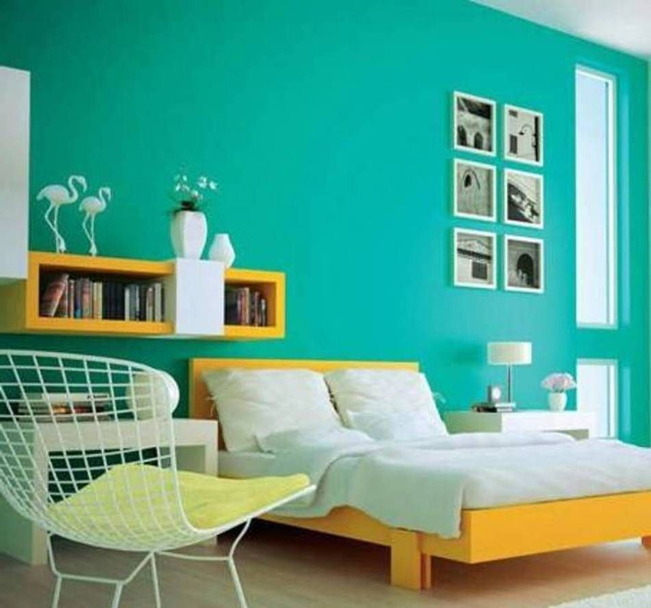 Different Colours And Frames In Different Rooms On Walls