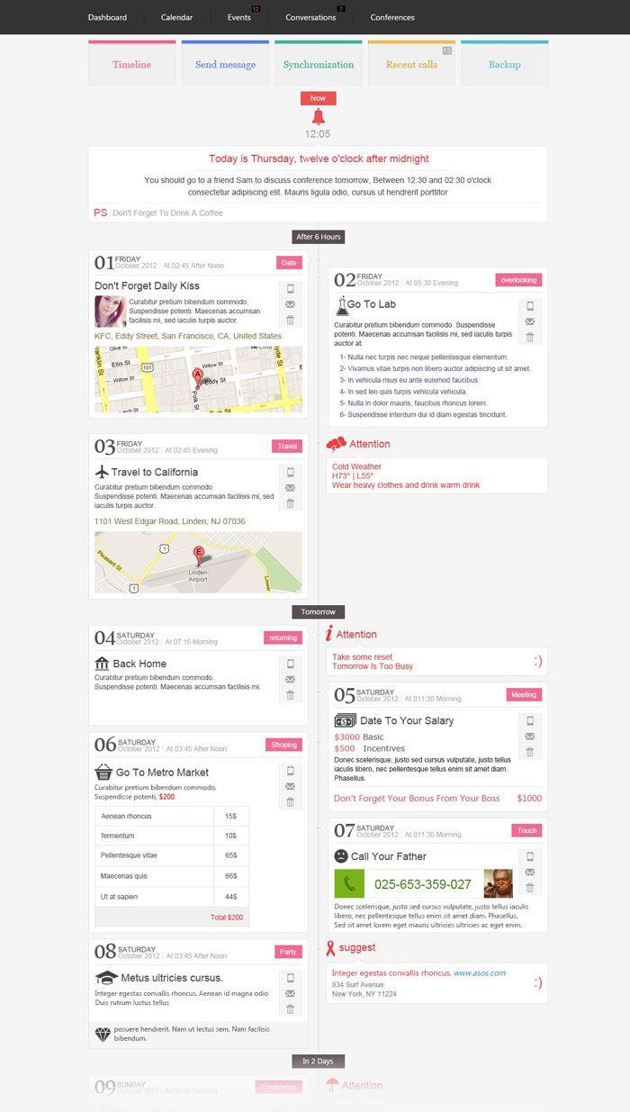 Timeline Events Web Design Inspiration Modern Web Design Web Layout Design Web Design