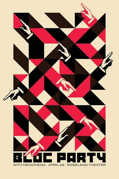 Block Party-plakat designet av Dan Stiles (Foto: Dan Stiles).