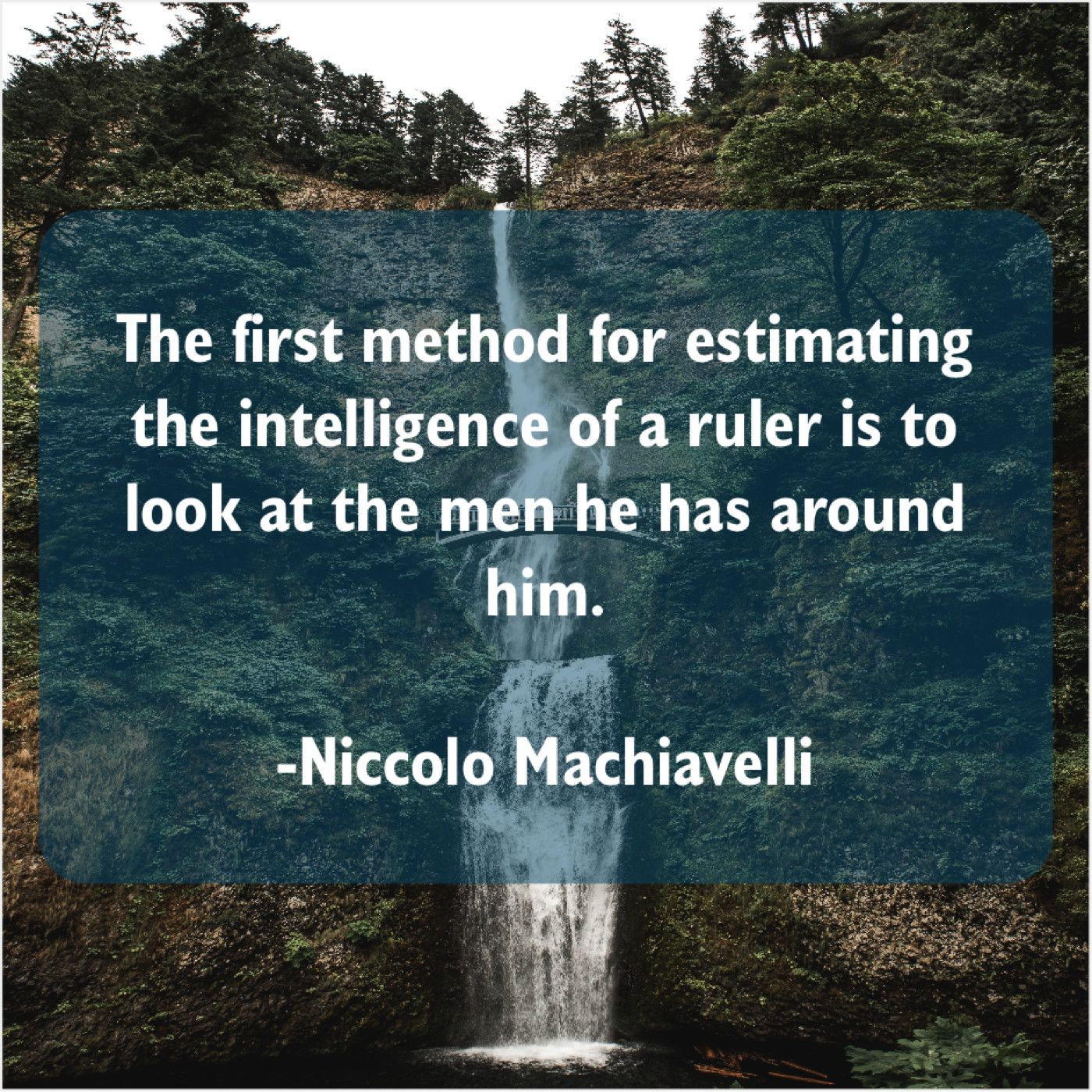 Niccolo Machiavelli: Niccolo Machiavelli  The first method for estimating