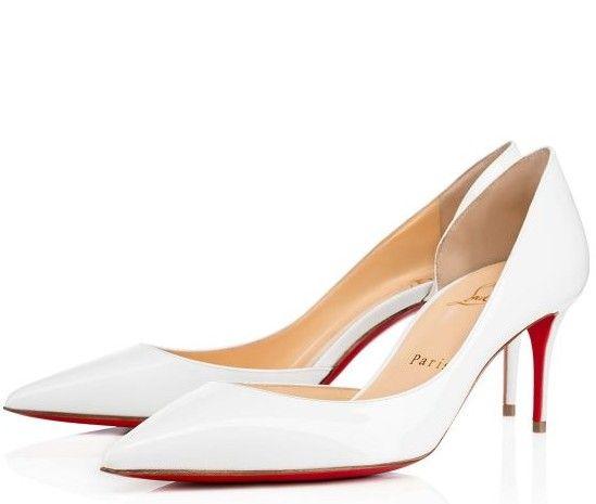 Scarpe Da Sposa Con Tacco Basso.Scarpe Eleganti Da Sposa Di Louboutin Classica Bianca E Con
