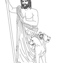 Hades From Greek Gods And Goddesses Coloring Page With Images