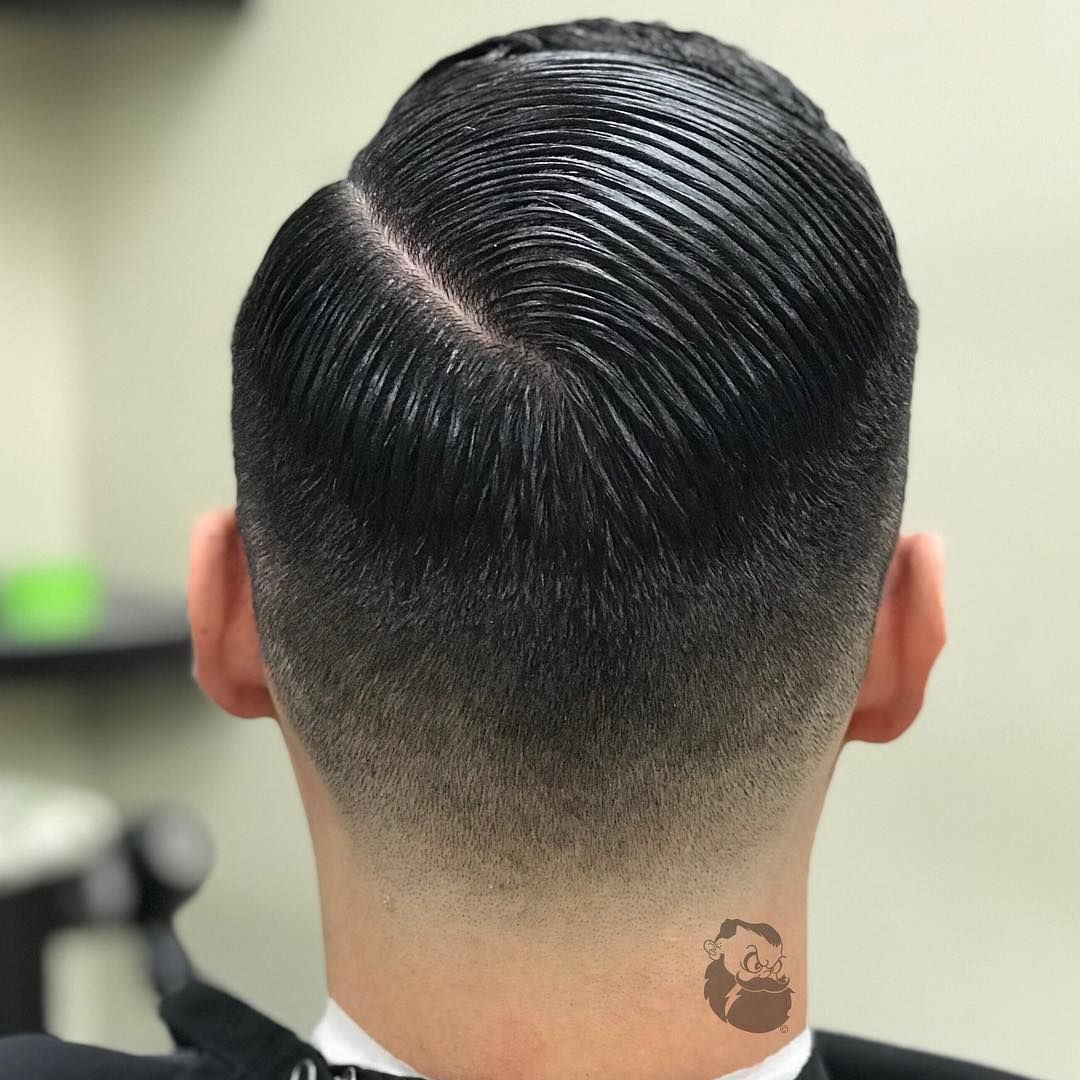 Pin On Slicked Hair