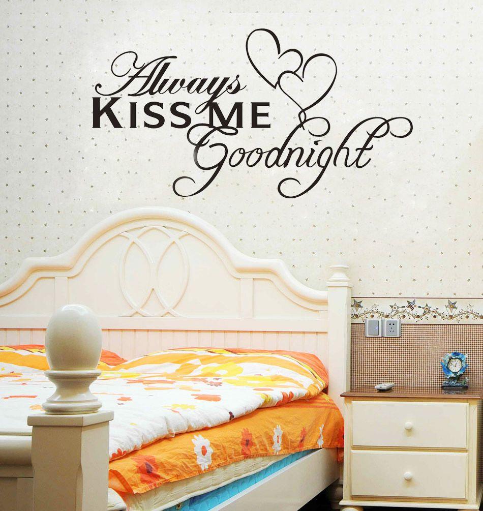 always kiss me good nite removable sticker good night pinterest always kiss me good nite removable sticker