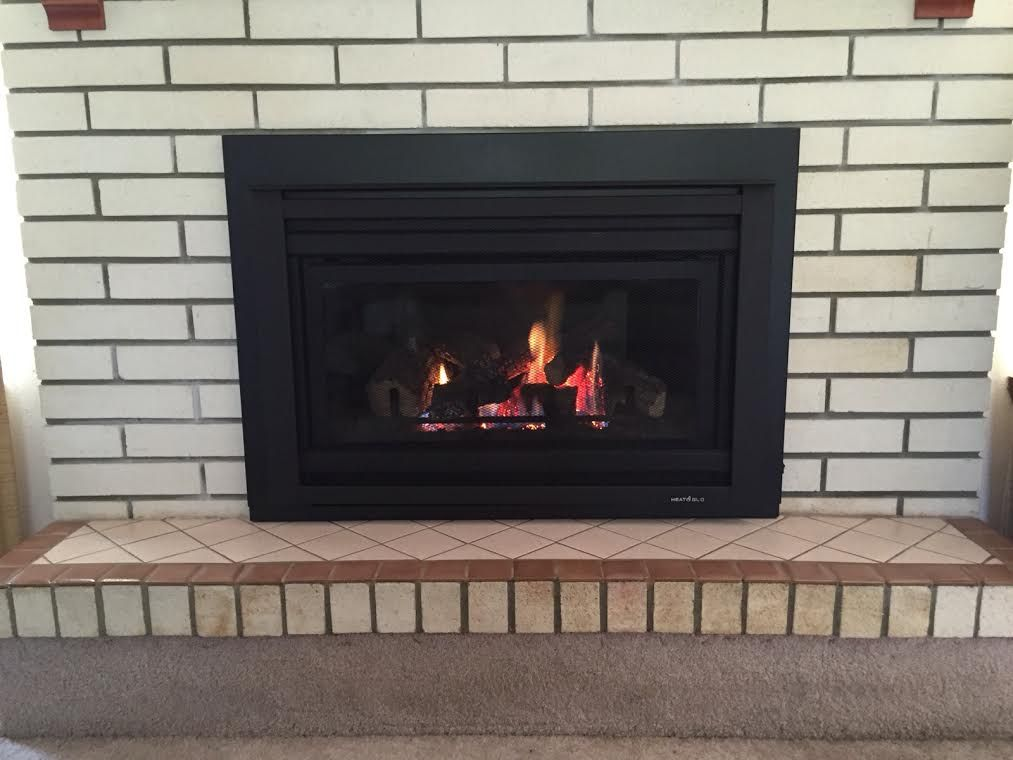 Swell We Replaced An Outdated Wood Burning Fireplace With A Interior Design Ideas Jittwwsoteloinfo