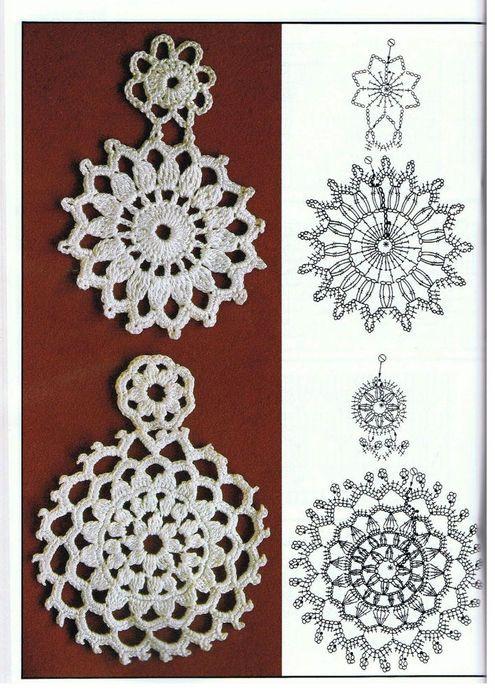 crochet #earrings #charts #pattern | PENDIENTES | Pinterest ...