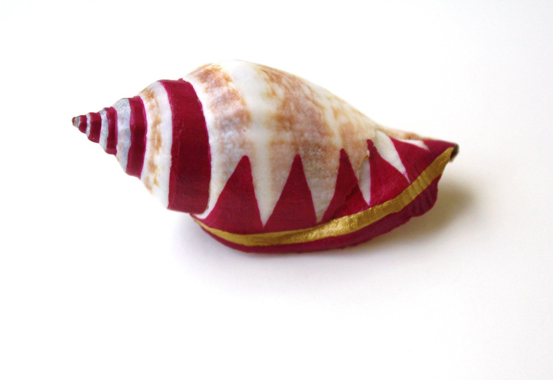 Magenta Sea Shell Vase Brooch - Shell Pin, Planter Pin, Pink Purple, Lapel Pin, Sea Shell, Bud Vase, Wedding Boutonniere, via Etsy.