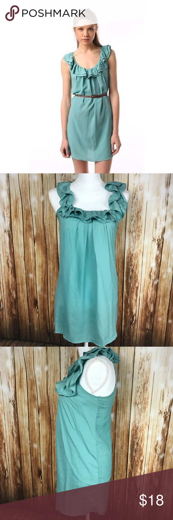 Pins & Needles Sea Green Dress Urban Outfitters XS Pins