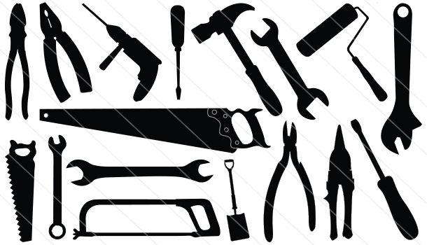 Construction Tools Silhouette Vector Download Silhouette Vector Silhouette Clip Art Clip Art