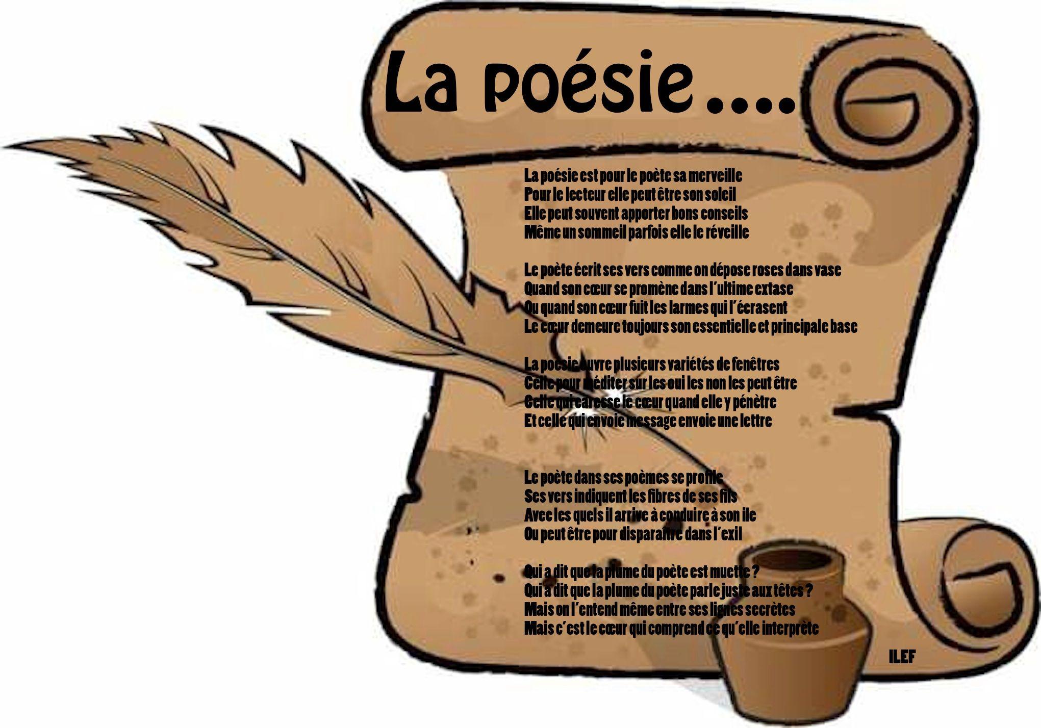 La Poésie Ilef Smaoui Texte Poétique Plume Et Les