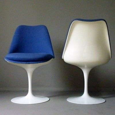 Tulip Typ 51 Dinner Chair By Eero Saarinen For Knoll International 12331 Dinner Chair Reupholster Chair Blue Accent Chairs