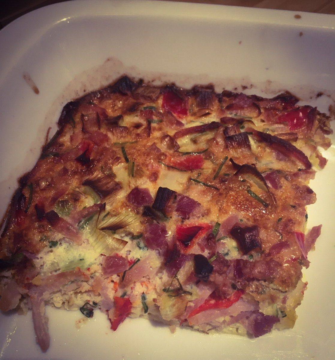 Æggekage i ovn - 436 kcal