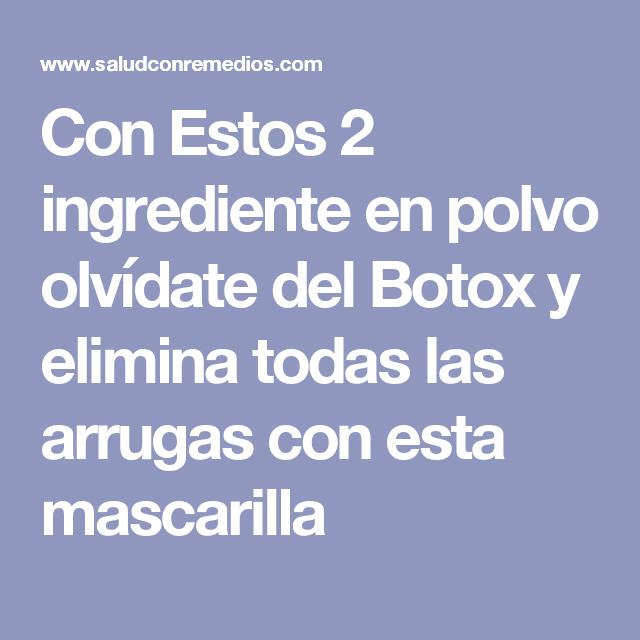 Con Estos 2 ingrediente en polvo olvídate del Botox y elimina todas las arrugas con esta mascarilla