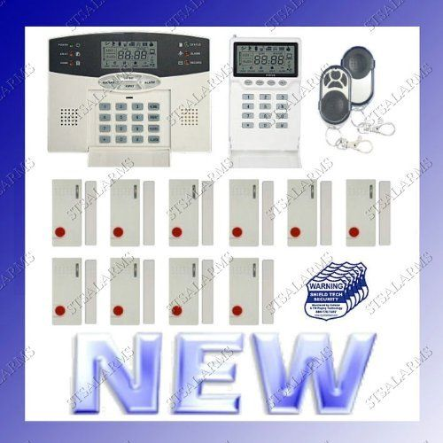 Wireless home security system w auto dialer digital lcd display wireless home security system w auto dialer digital lcd display for burglar and fire alarm protects house and office solutioingenieria Image collections