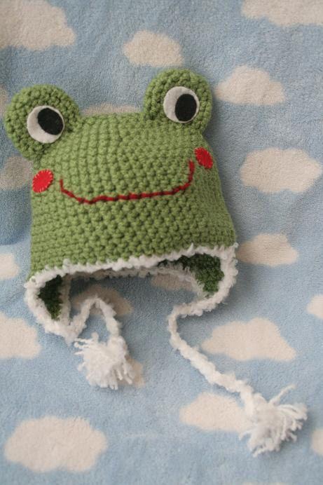 🐸 Parvo Sapo Crochetar Chapéu Bebê (6 - 12 meses) -  /  🐸 Silly Froggy Crochet Baby Hat (6 - 12 months) -