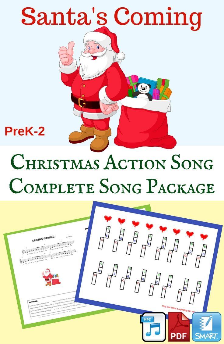 Christmas Action Song Santa Song Holiday Program