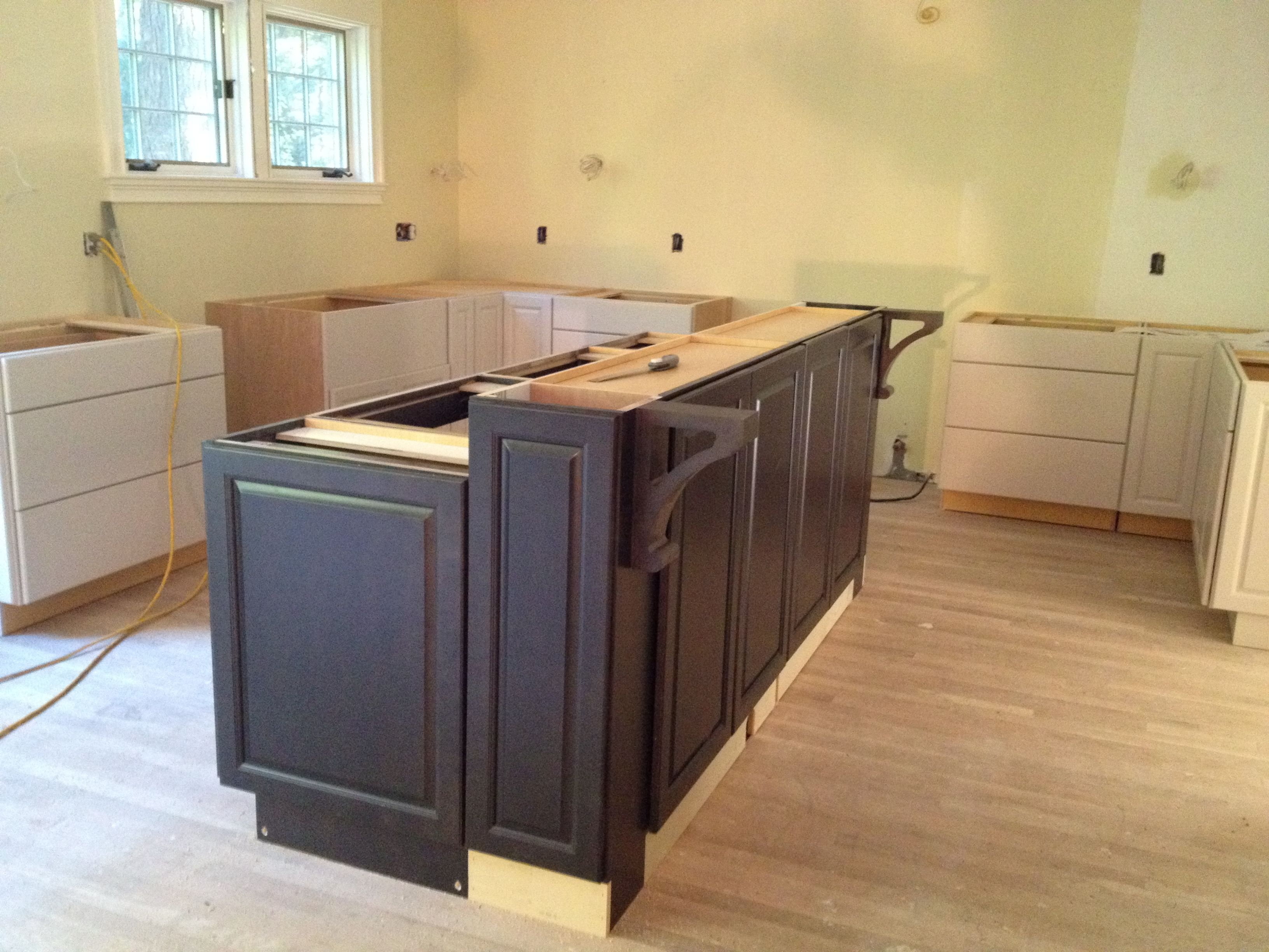 Kitchen island cabinets online hot s wood bar height for Kitchen island with cupboards