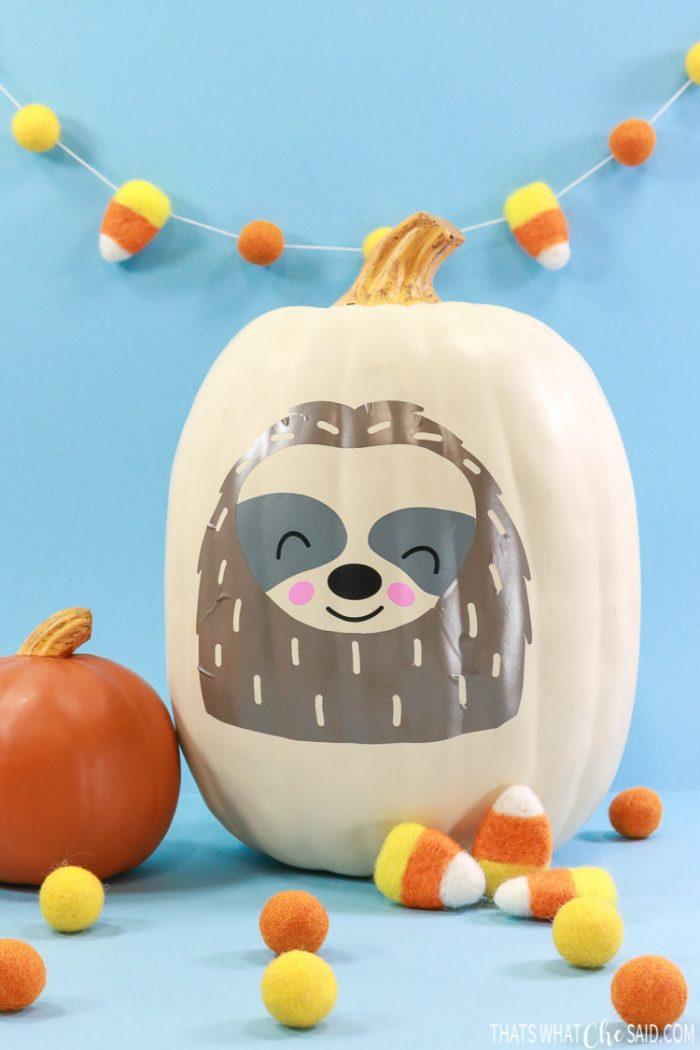 Sloth Pumpkin Pumpkin crafts, Sloth, Crafts