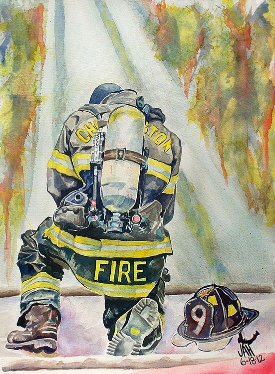 Quot Always Brothers Quot Firefighting Painting Watercolors Www