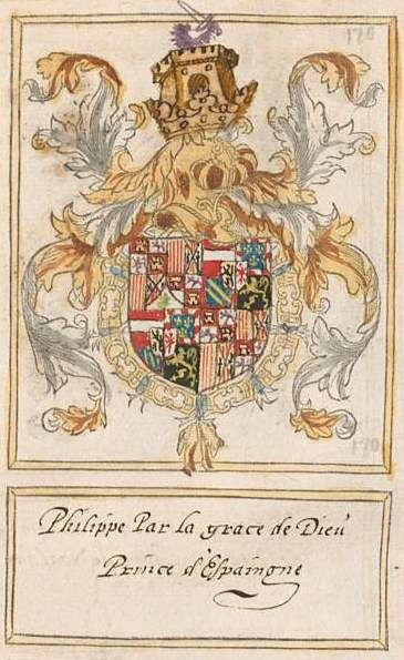 1531 Coat Of Arms Of Philip Of Austria Prince Of Asturias Philip Ii Of Spain Livre Du Toison D Or The Netherlands Coat Of Arms Heraldry Holy Roman Empire