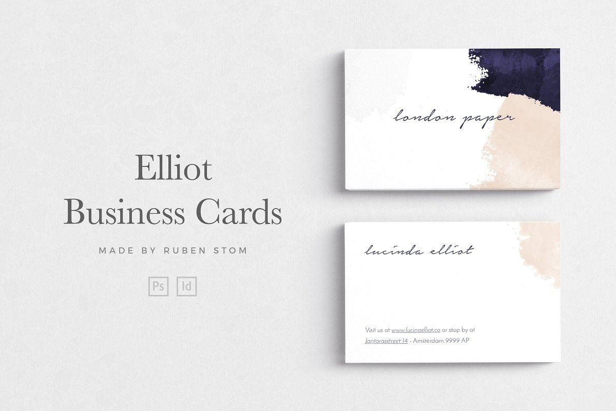 Elliot Business Card Business Cards Creative Templates Business Cards Creative Photography Business Cards