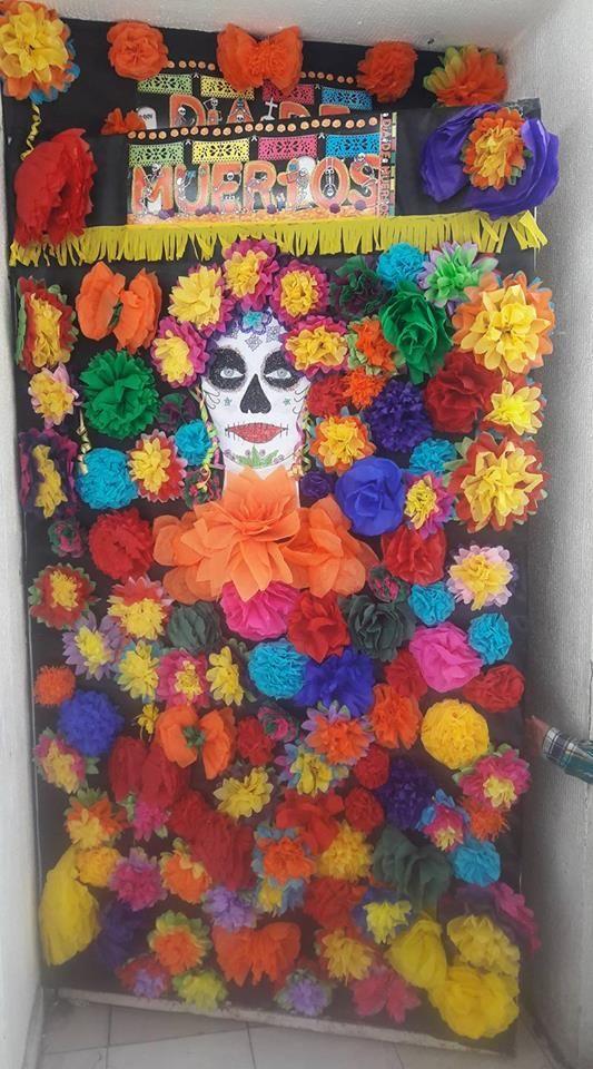 puerta decorada de noviembre d a de muertos sal n