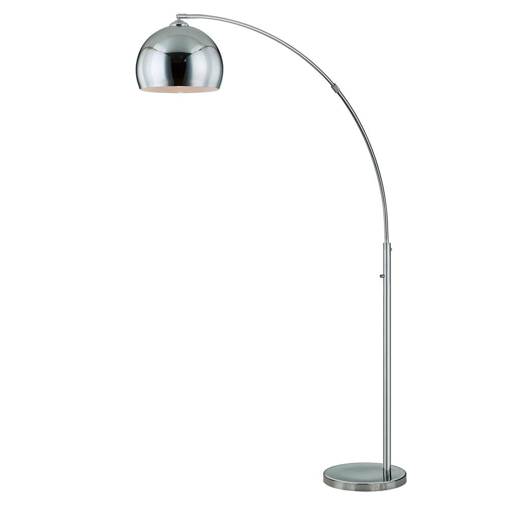 Artiva Alrigo Chrome Metal 80 In Led Dimming Arched Floor Lamp