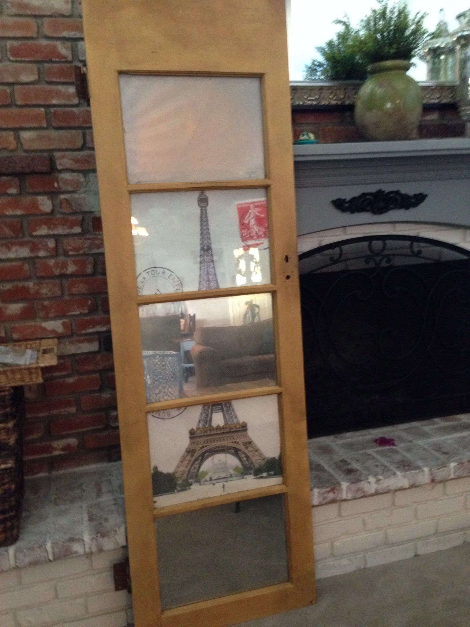 Old Door Redo Krylon Looking Glass Paint Annie Sloan Chalk Paint