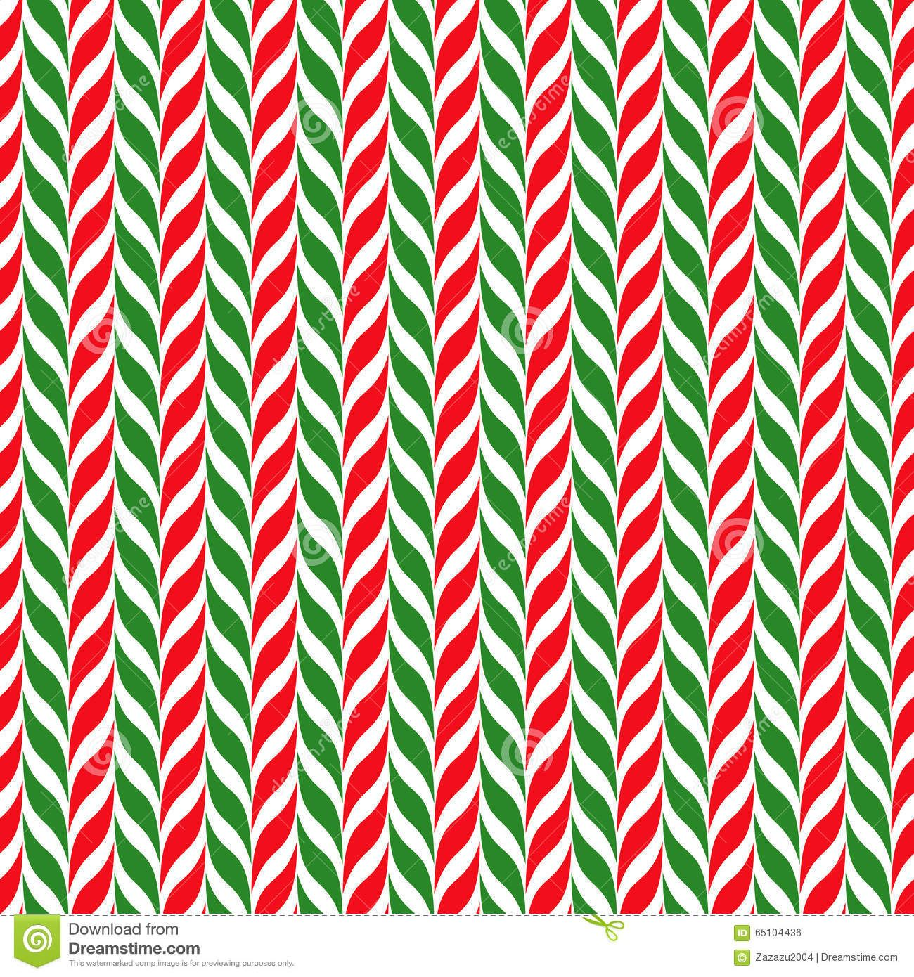 Candy canes vector background. Seamless xmas pattern with