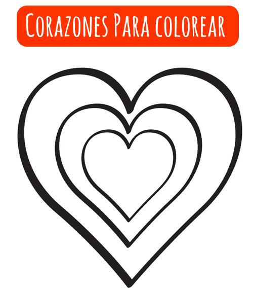 corazones para colorear  Valentin tag  Pinterest  Colorear