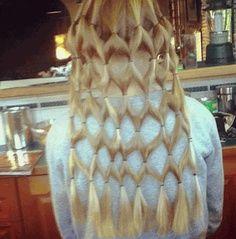 Diamond lattice hairstyle