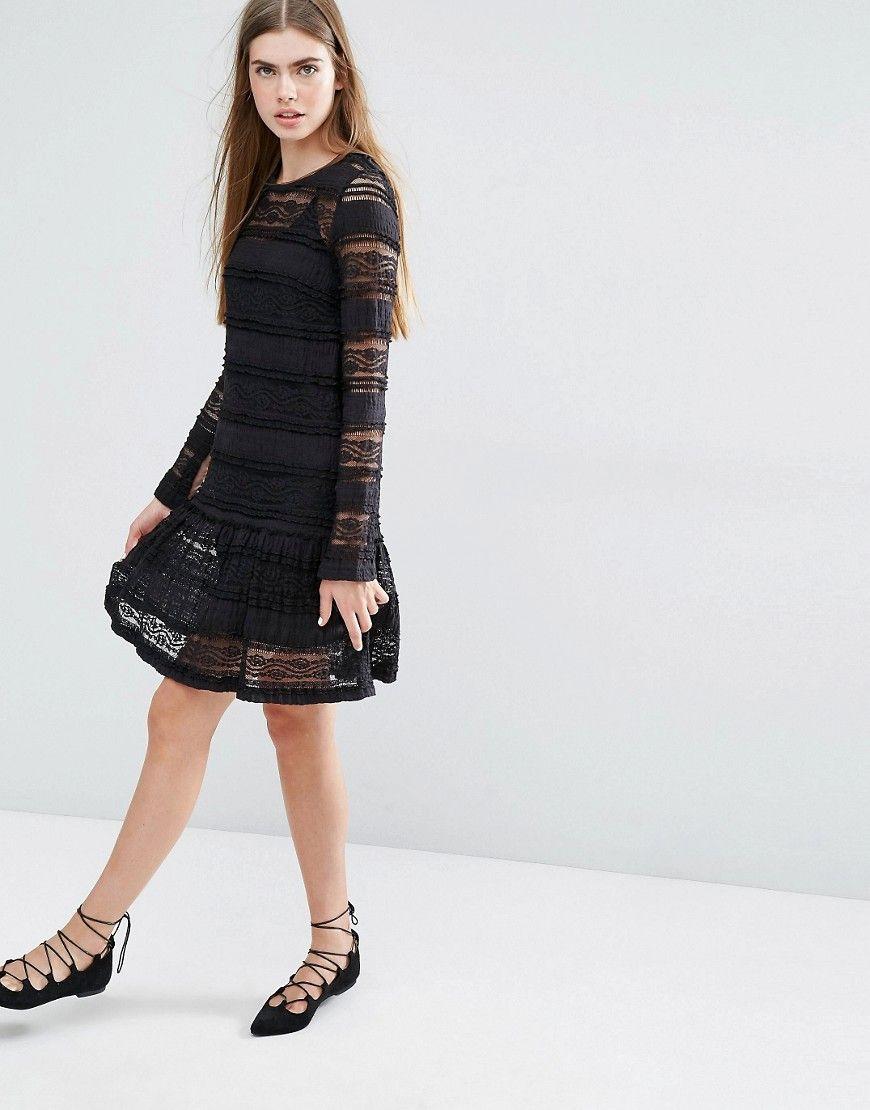 Image 4 of Baum und Pferdgarten Eunice Drop Waist Dress in Lace ...