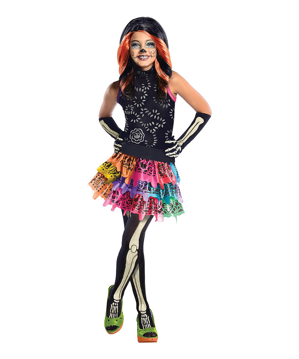 Monster High™ Black & Orange Skelita Calaveras Dress-Up Set - Girls