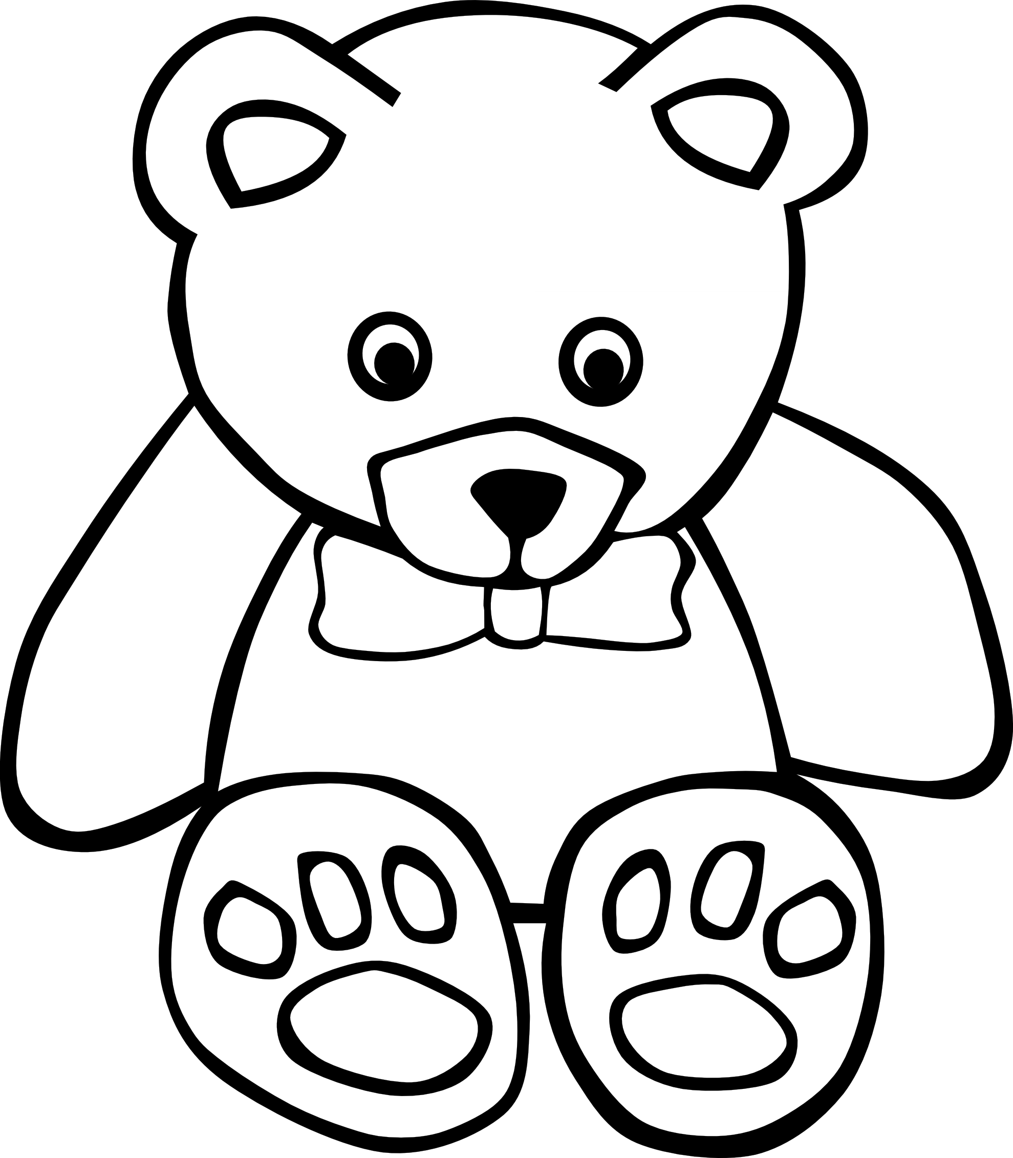 Teddy Bear 1 Black White Line Art Coloring Sheet Colouring Page Scallywag Coloring Book Colouring Teddy Bear Day Teddy Bear Pictures Teddy Bear Coloring Pages